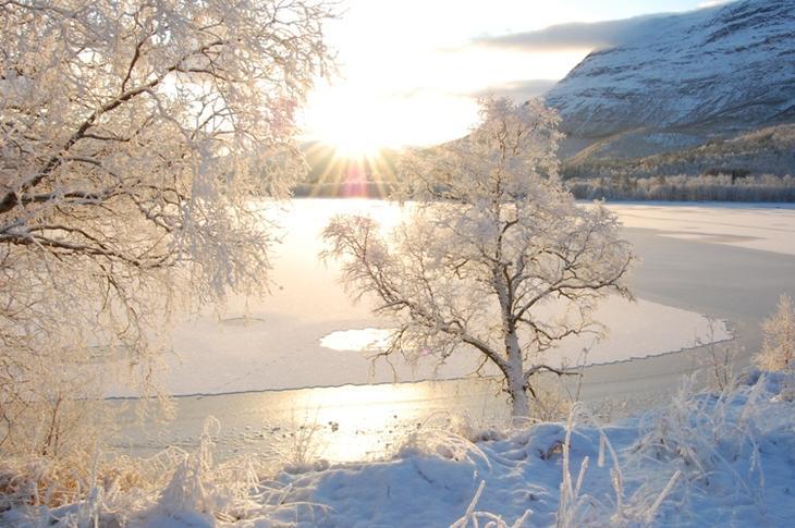 Viken senter i vinterdrakt