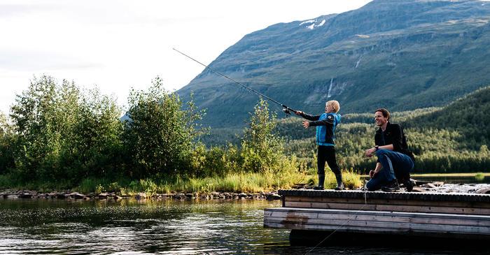 Fiske ved brygga